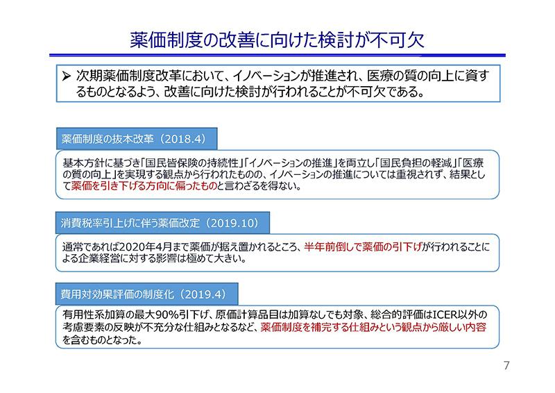07_薬価制度改革に関する意見(日薬連)20190724薬価専門部会