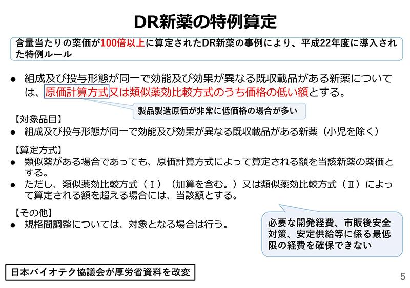 05_薬価制度改革に関する意見(日本バイオテク)20190724薬価専門部会