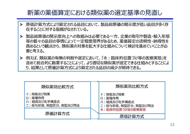 15_薬価制度改革に関する意見(日薬連)20190724薬価専門部会