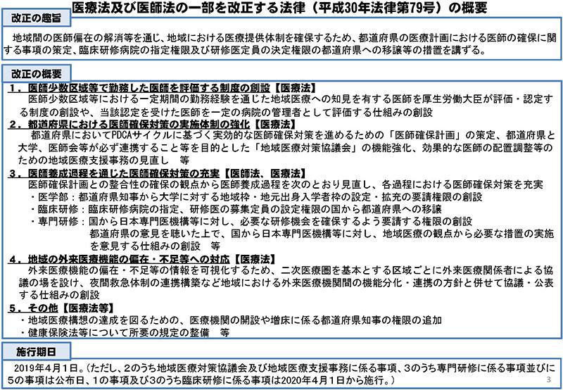 03_医師養成課程を通じた偏在対策について_20190718医療部会資料