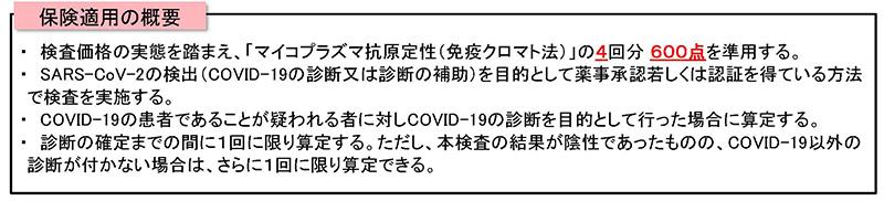 【総-6】1新型コロナウイルス感染症に係る抗原検査の保険適用に伴う対応_20200513中医協総会