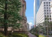 日本銀行前の江戸桜通り_20200911