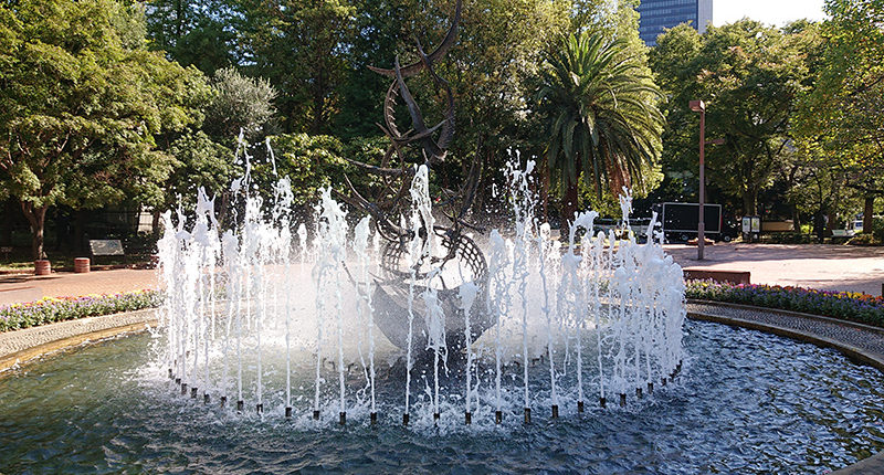 日比谷公園の噴水_2020年10月25日