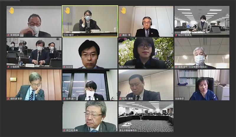 2021年1月13日の調査実施小委員会(オンライン開催)