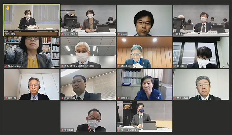 2021年2月10日の中医協調査実施小委員会(オンライン開催)