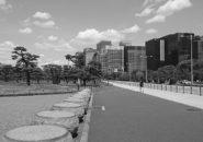 皇居前・突入防止の置き石_2021年4月12日
