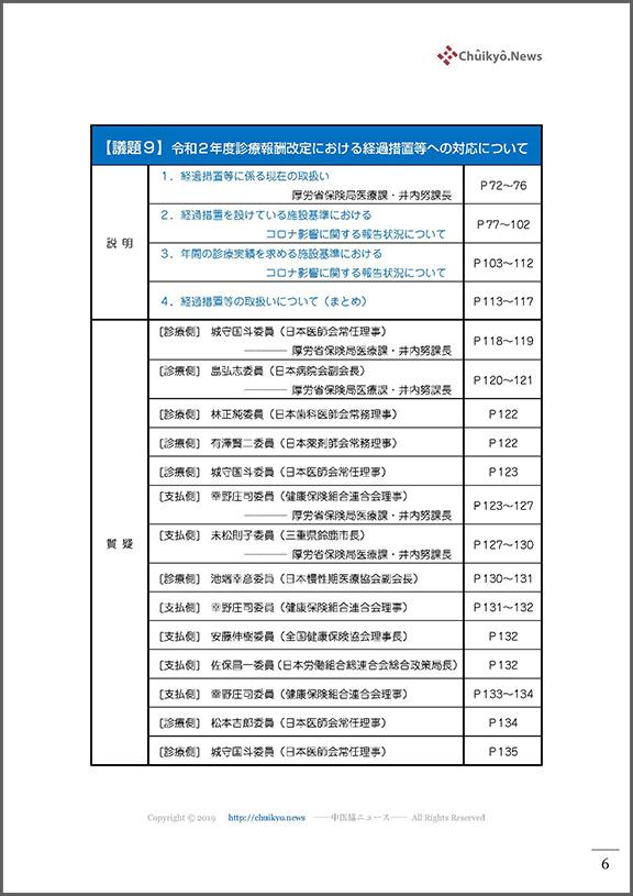 目次_第488回中医協総会(2021年9月15日)【議事録】_ページ_006